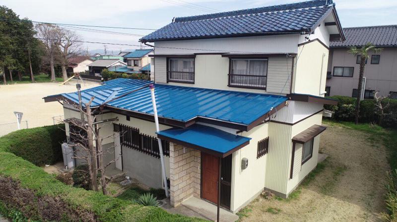 豊川市小田渕町での外壁・屋根塗装工事  I様邸