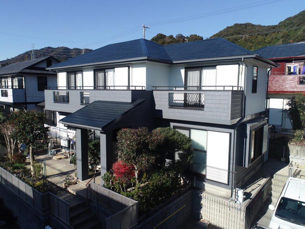 豊川市長沢町での外壁・屋根塗装工事  T様邸