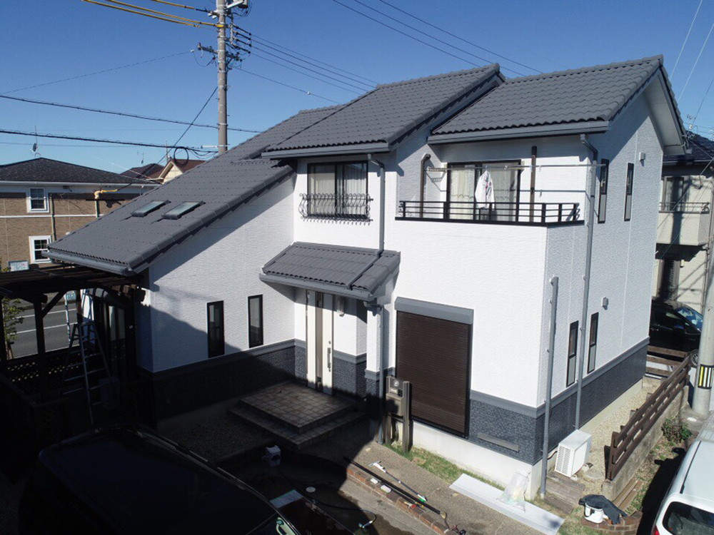 豊川市樽井町での外壁塗装工事  M様邸