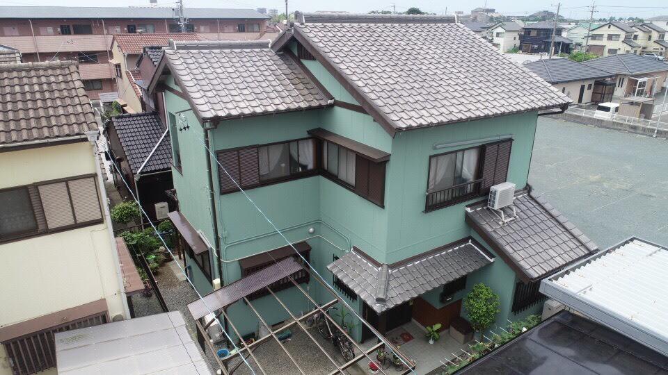 豊川市本野町での外壁塗装工事 T様邸