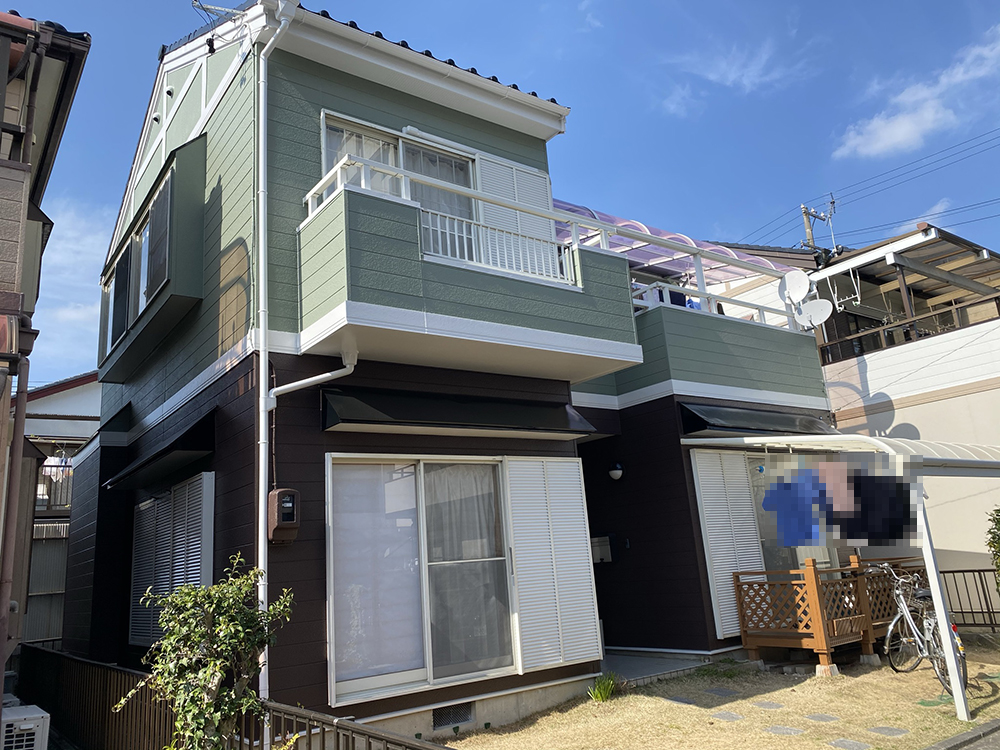 豊川市四ッ谷町での外壁・屋根塗装工事  M様邸