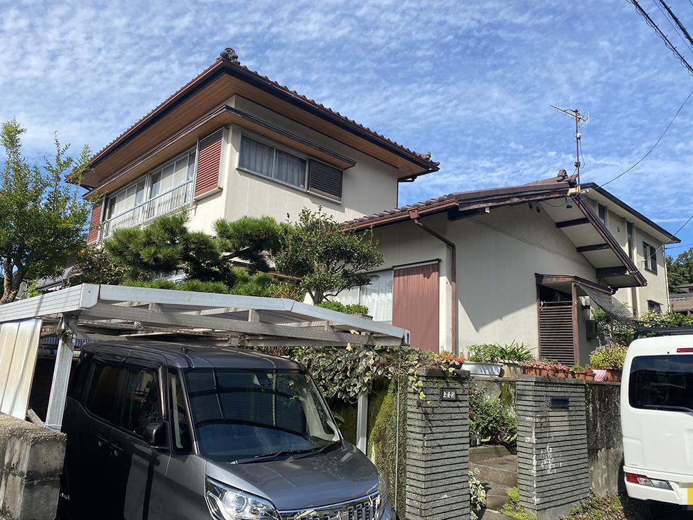 豊川市御油町 サイディング外壁・モニエル瓦の塗替えを工事を行いました