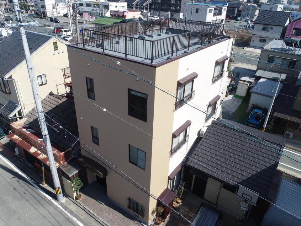 豊川市曙町での外壁・屋根塗装工事  I様邸