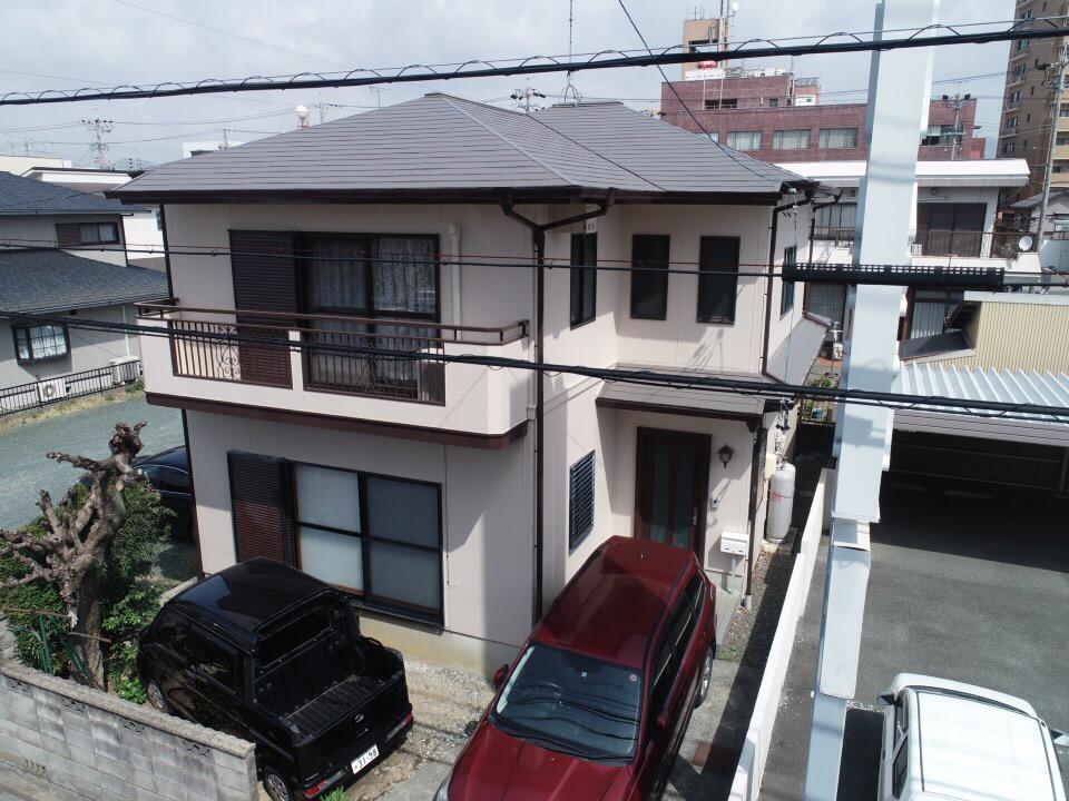 豊川市諏訪での外壁・屋根塗装工事  S様邸