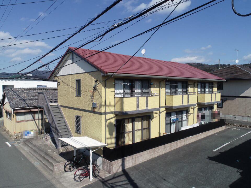 豊川市御油町でのアパート外壁・屋根塗装工事 メゾンラフォーレ様