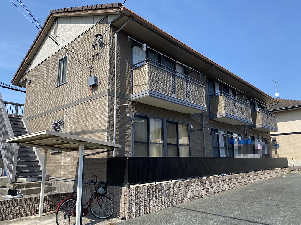 豊川市御油町 アパートの屋根・外壁塗装、シーリング工事です