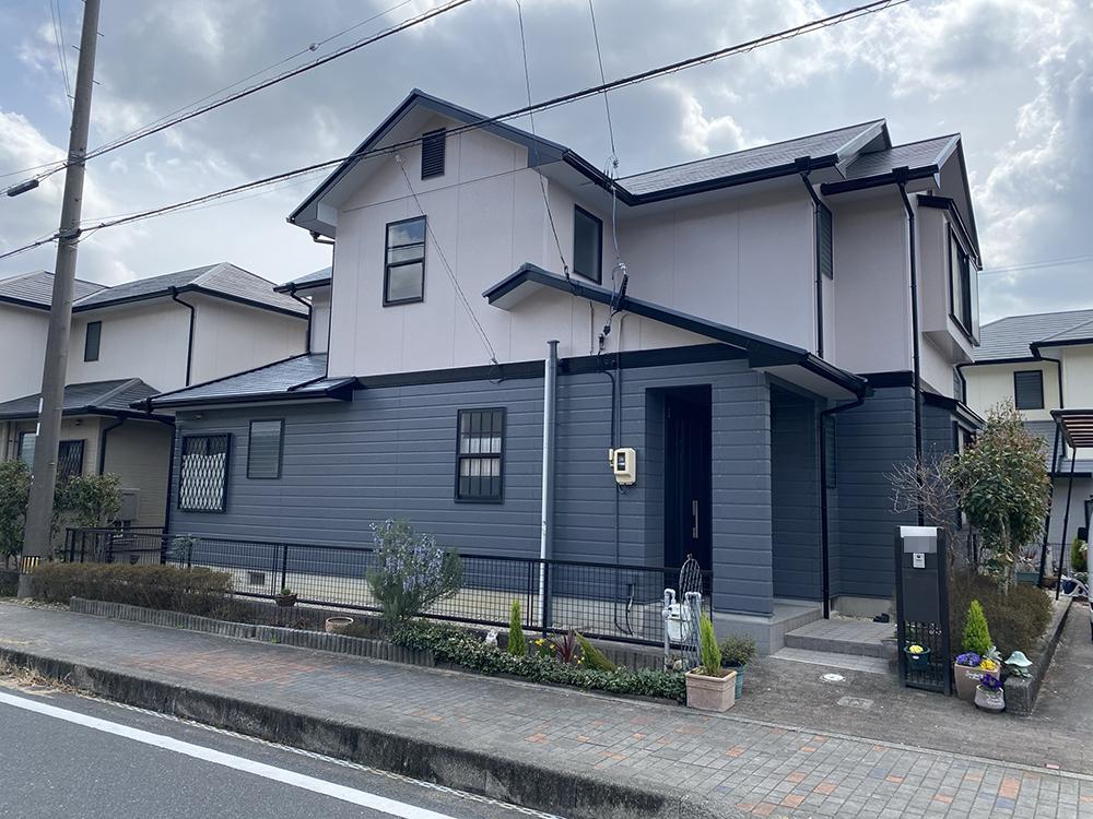 豊川市長沢町での外壁・屋根塗装工事  N様