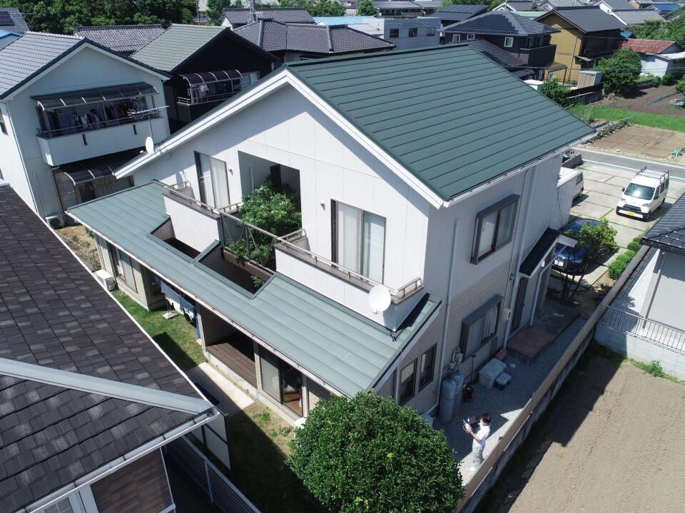 豊川市桜町での外壁・屋根カバー工事  H様