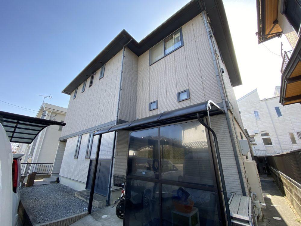 豊川市御油町 汚れにくい遮熱フッソ塗料で塗替えたミサワホーム