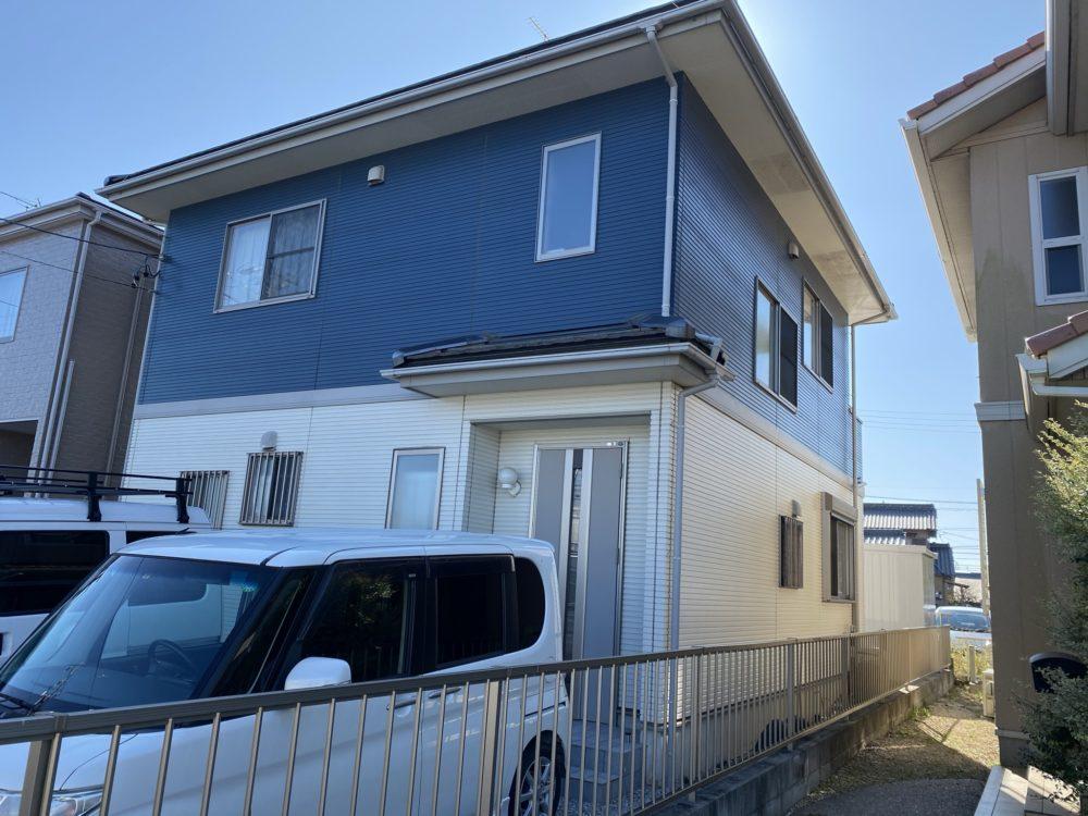 豊川市牧野町 グレー系にリフレッシュ!遮熱シリコン塗料で塗替えました