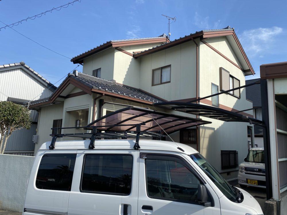 豊川市上長山町 汚れにくい遮熱フッソ塗料できれいが長く続きます
