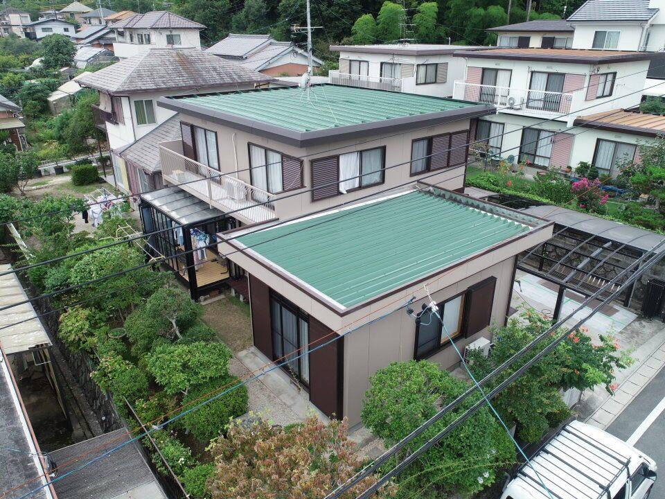 豊川市赤坂台での屋根・外壁塗装工事  H様