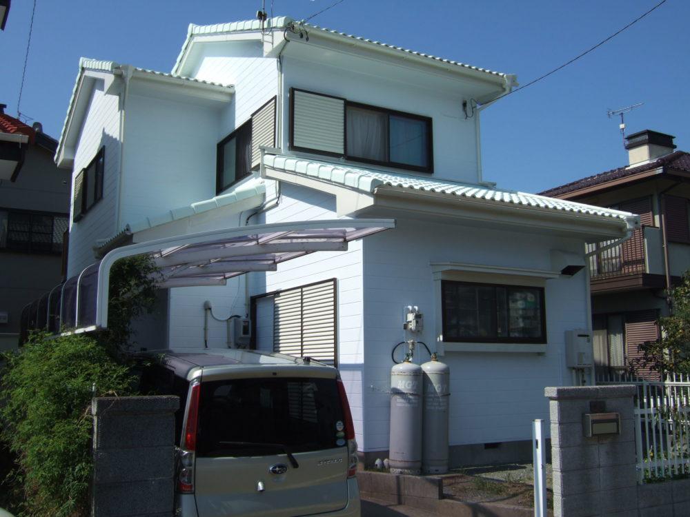 豊川市為当町での屋根・外壁塗装工事 H様邸