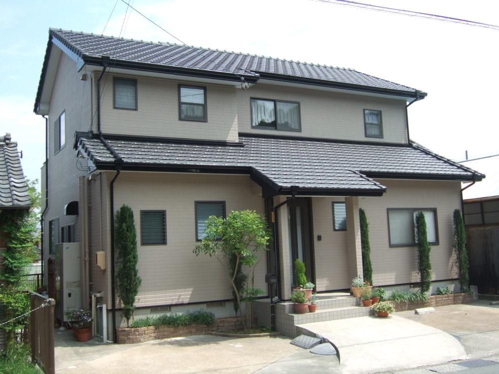 豊川市国府町での外壁塗装工事 H様邸