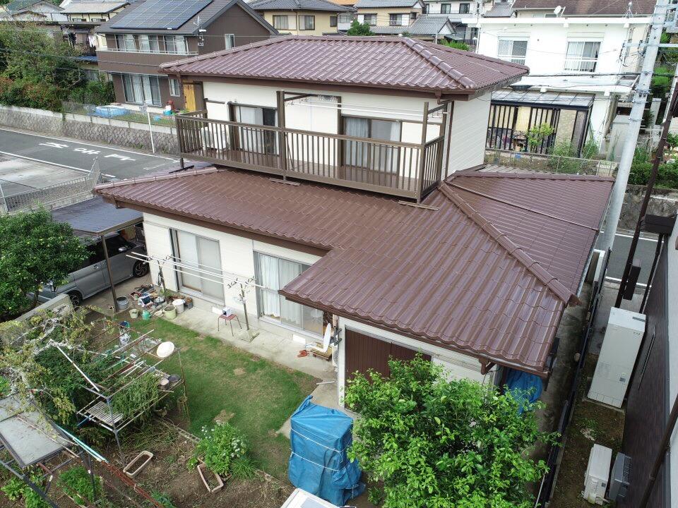 豊川市赤坂台 築35年のナショナル住宅!高純度シリコン塗料で塗替えました